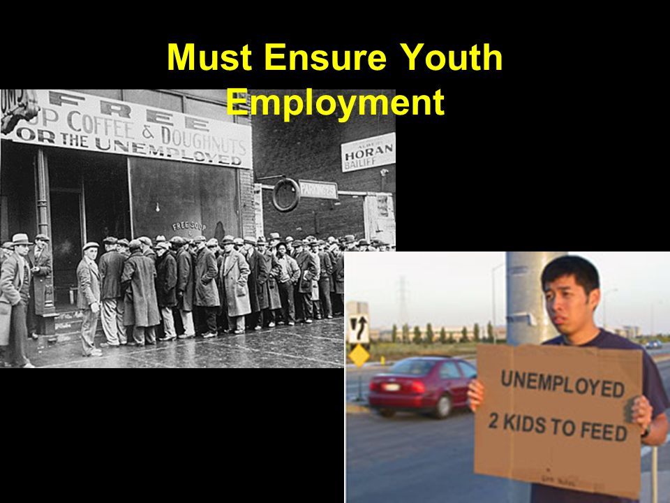 Must Ensure Youth Employment