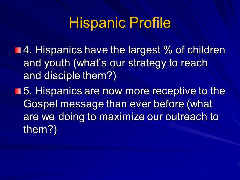 Hispanic Profile 4.