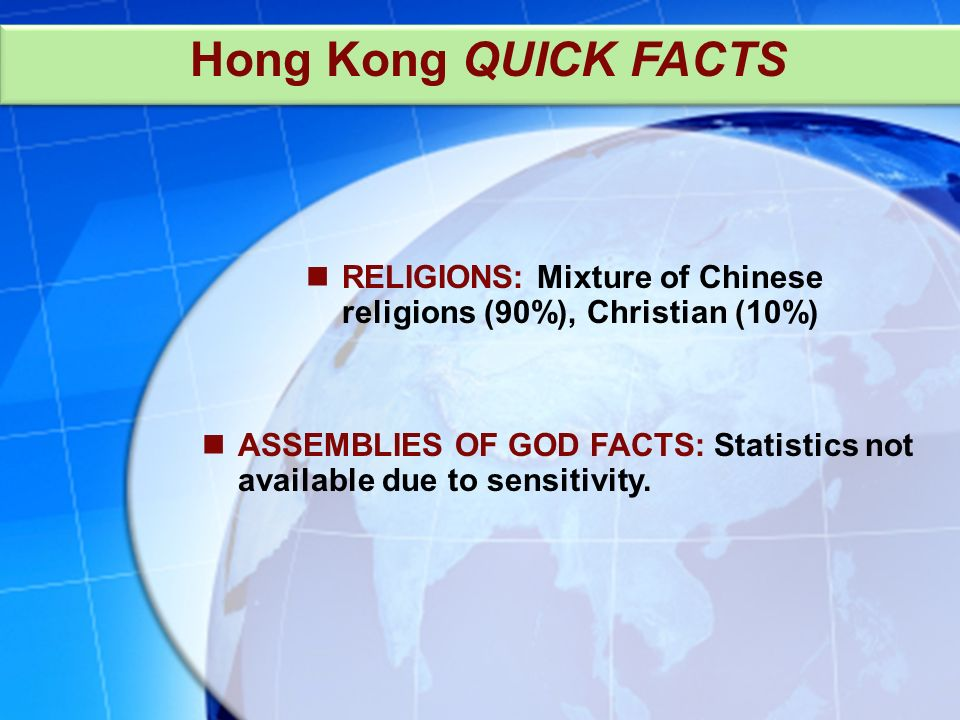 ASSEMBLIES OF GOD FACTS: Statistics not available due to sensitivity.