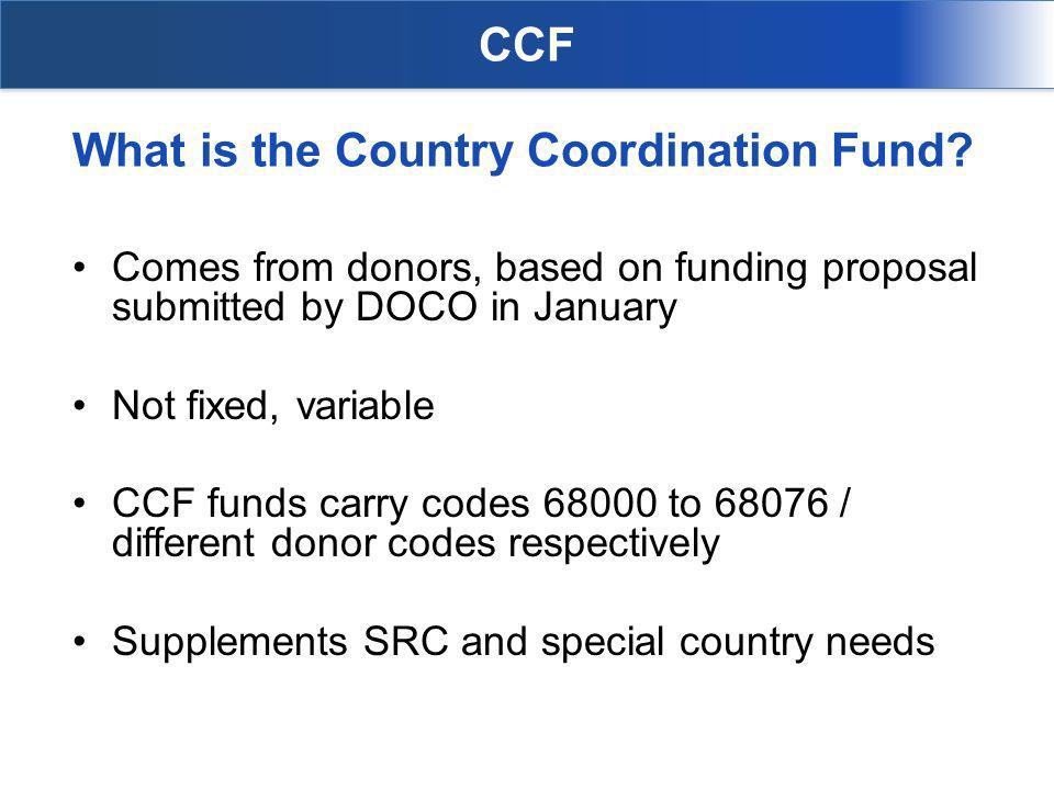 What is the Country Coordination Fund.
