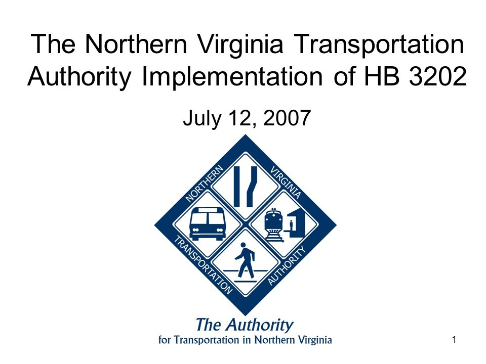 1 The Northern Virginia Transportation Authority Implementation of HB 3202 July 12, 2007