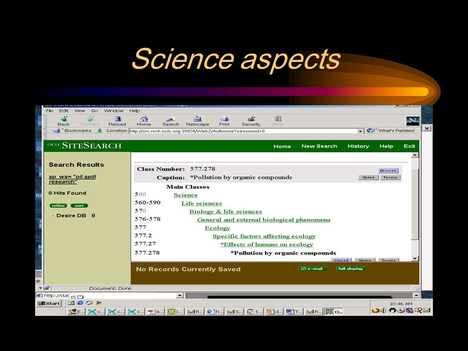 Science aspects