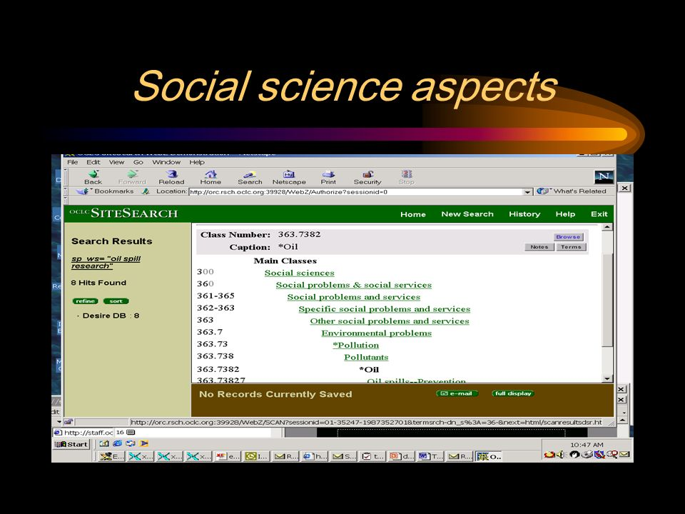 Social science aspects