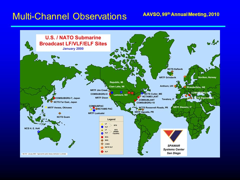 AAVSO, 99 th Annual Meeting, 2010 Multi-Channel Observations