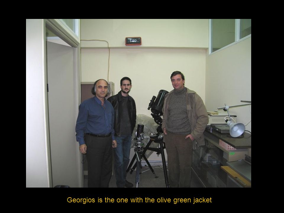 Georgios is the one with the olive green jacket