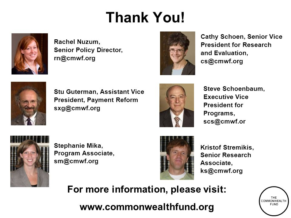 THE COMMONWEALTH FUND Thank You.