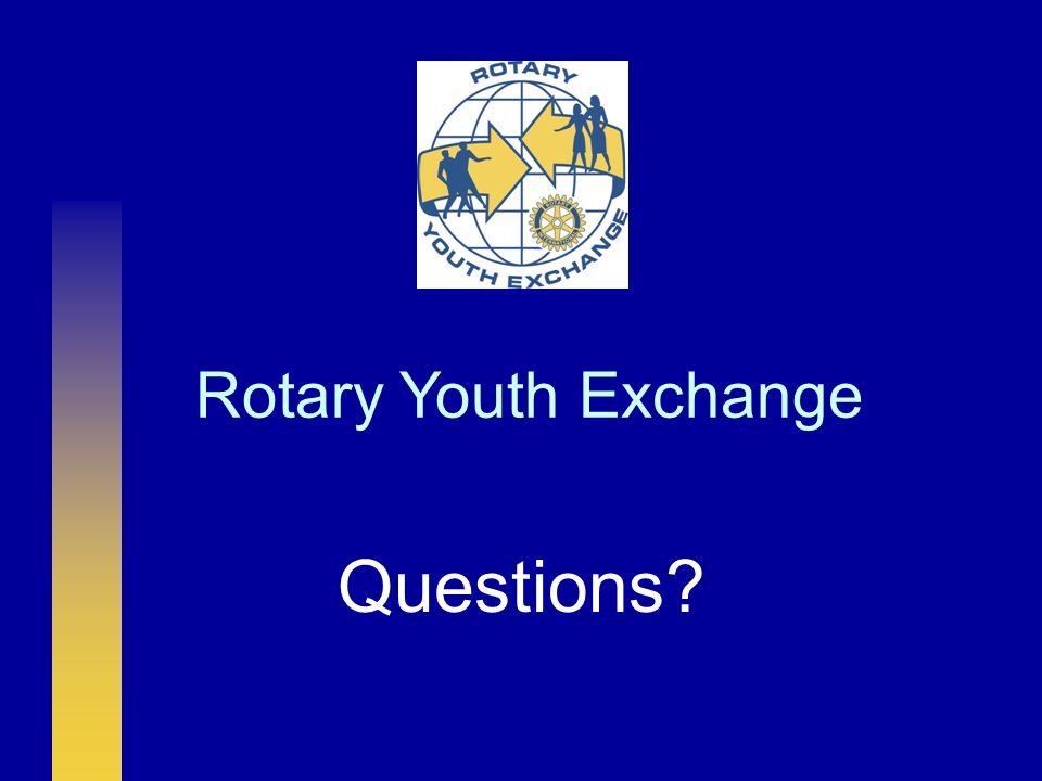 Rotary Youth Exchange Questions