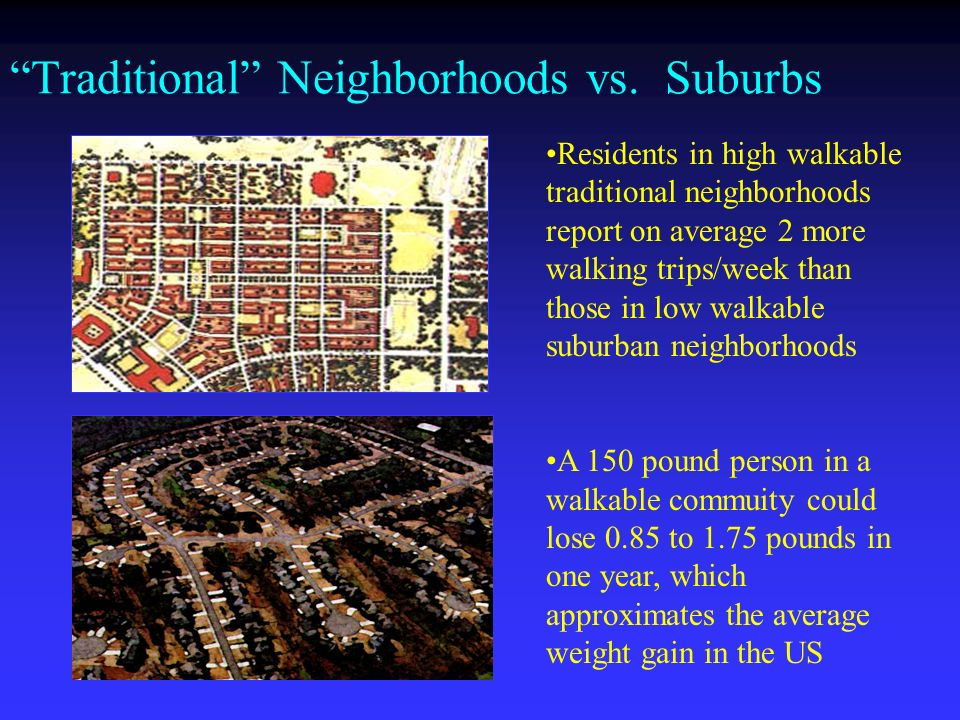 Traditional Neighborhoods vs.
