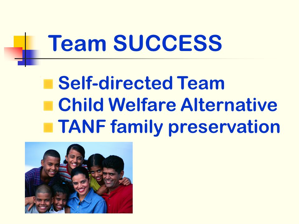 Self-directed Team Child Welfare Alternative TANF family preservation Team SUCCESS