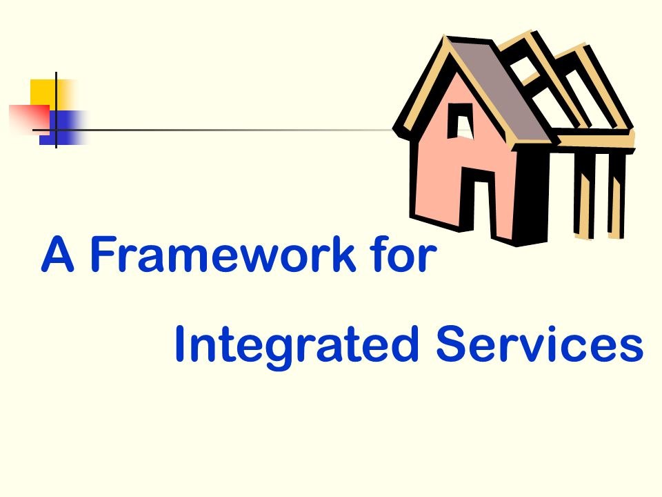 A Framework for Integrated Services