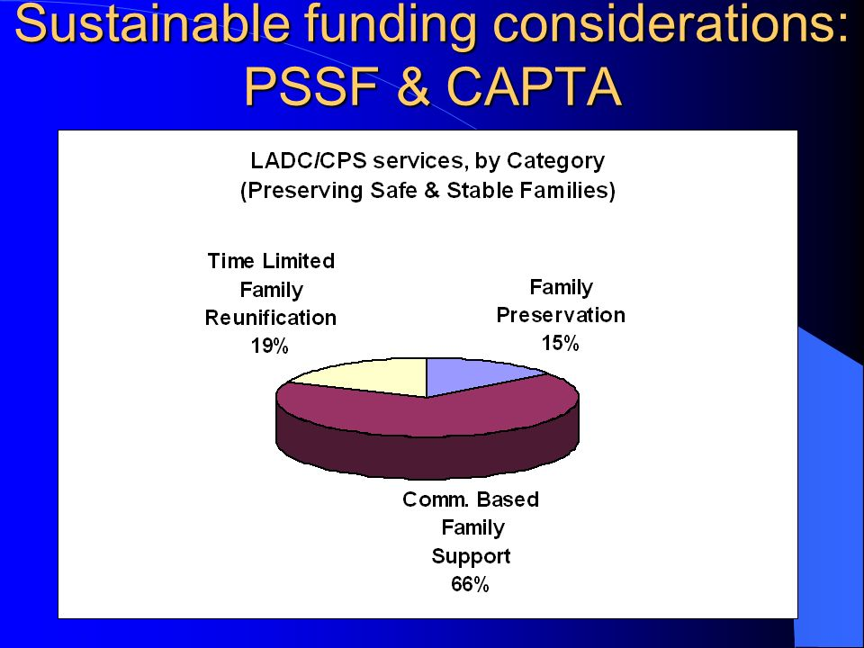 Sustainable funding considerations: PSSF & CAPTA