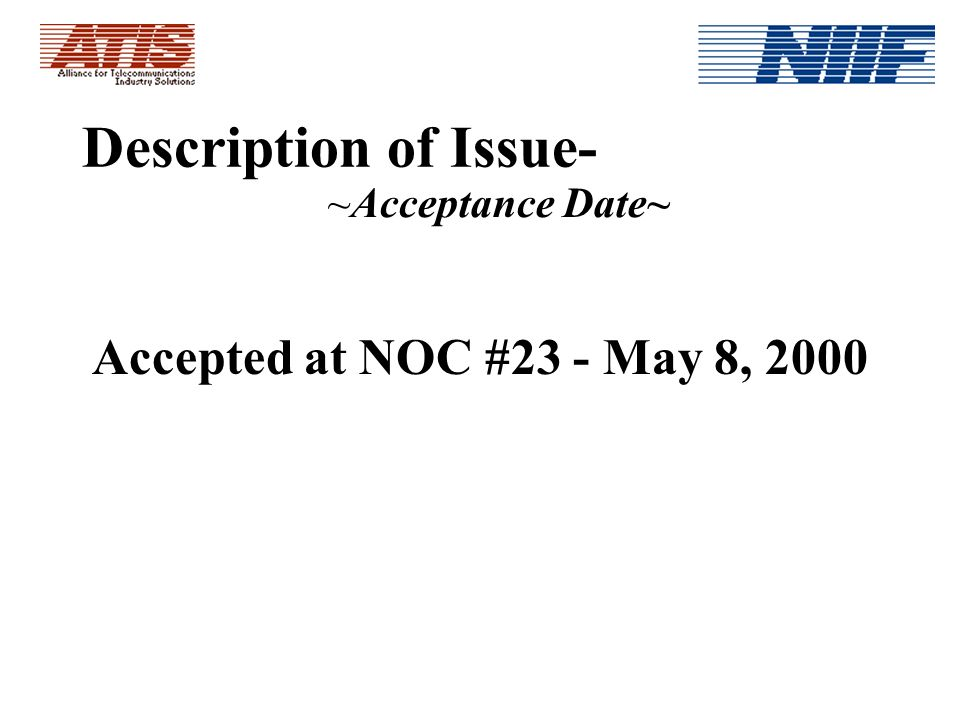 NIIFs Report to the NANC on Issue #0173, Toll Free Record Application Performance Guidelines by David H.
