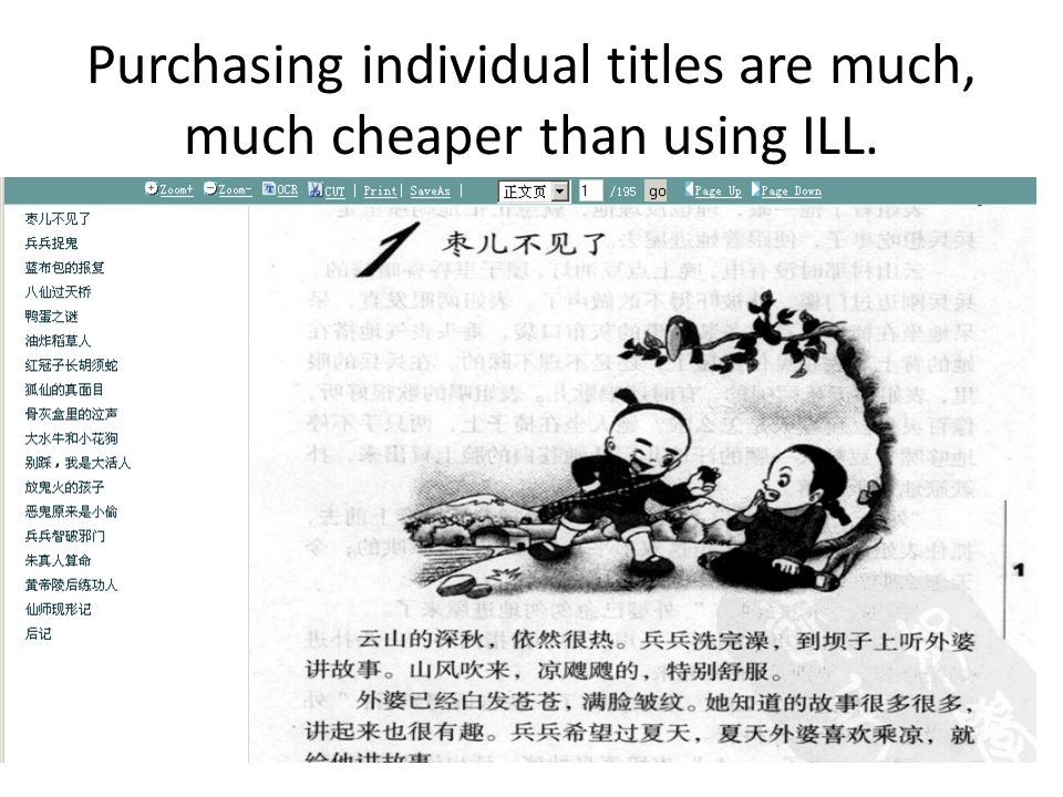 Purchasing individual titles are much, much cheaper than using ILL.