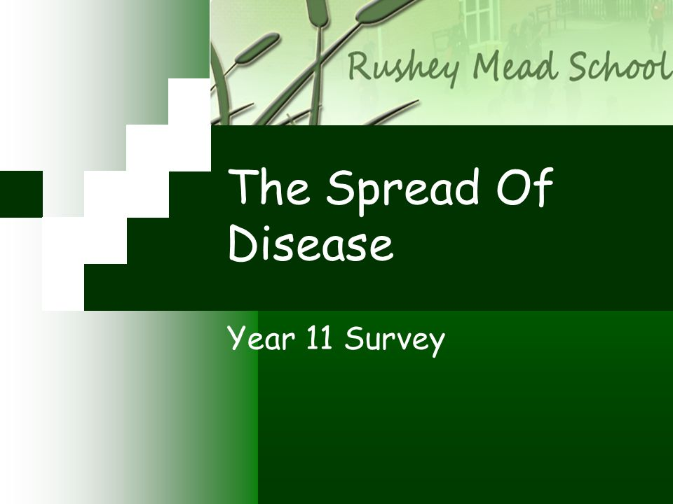 The Spread Of Disease Year 11 Survey