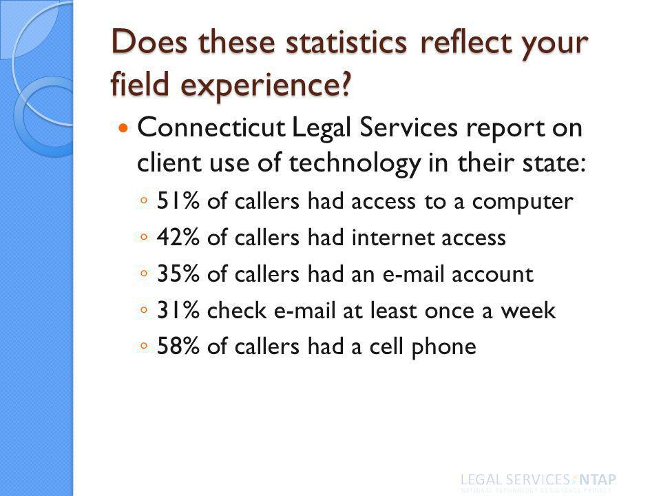 Does these statistics reflect your field experience.