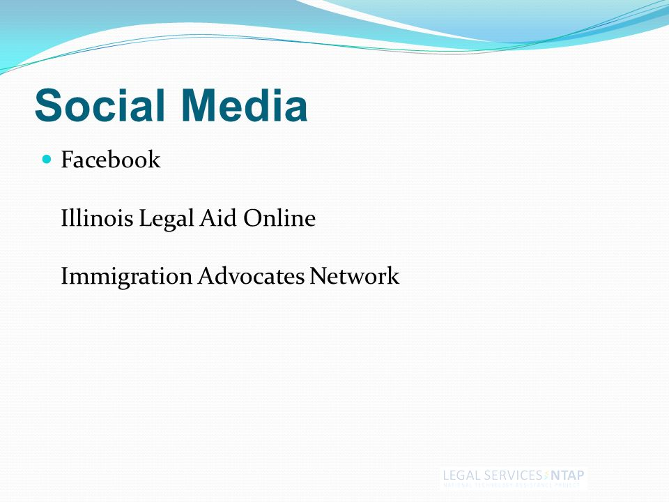 Social Media Facebook Illinois Legal Aid Online Immigration Advocates Network