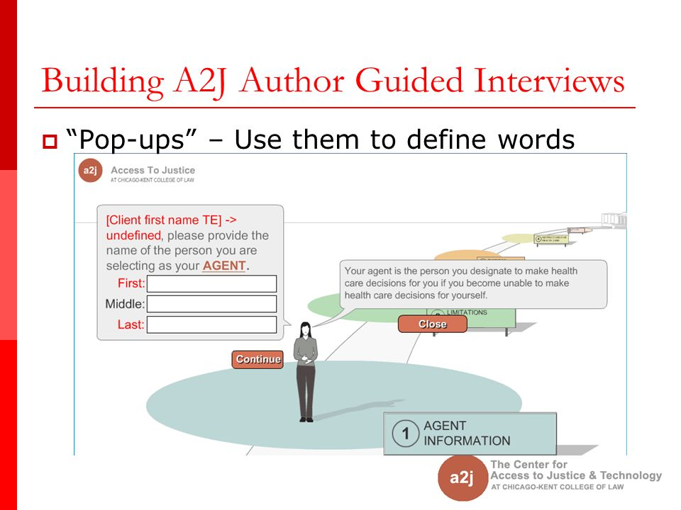 Building A2J Author Guided Interviews Pop-ups – Use them to define words