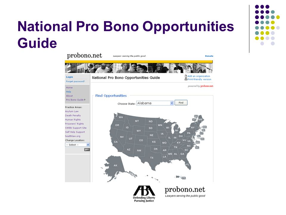 National Pro Bono Opportunities Guide