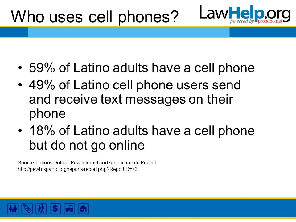 Who uses cell phones.