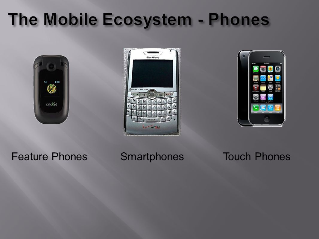 Feature Phones Smartphones Touch Phones