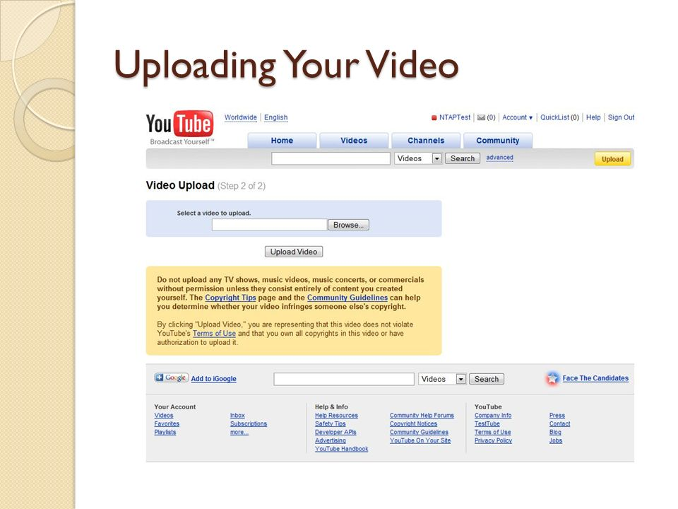 Uploading Your Video