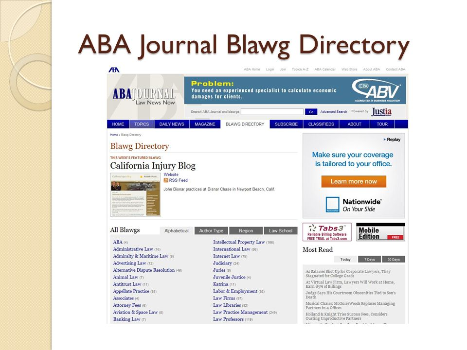 ABA Journal Blawg Directory