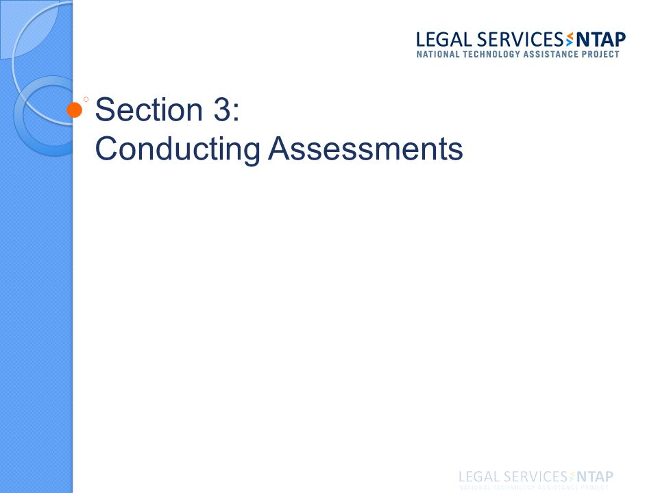 Section 3: Conducting Assessments