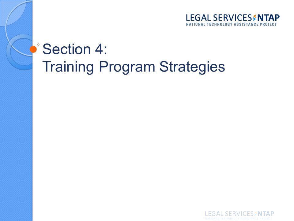 Section 4: Training Program Strategies
