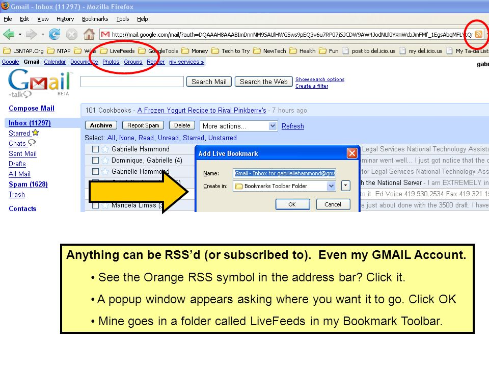 Anything can be RSSd (or subscribed to). Even my GMAIL Account.