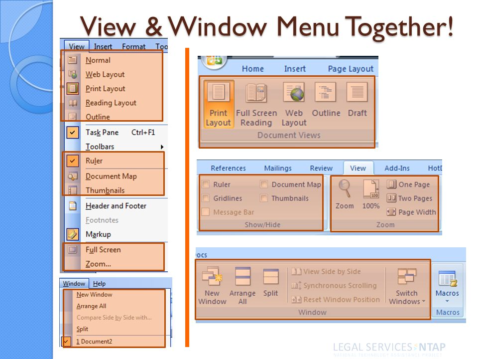 View & Window Menu Together!