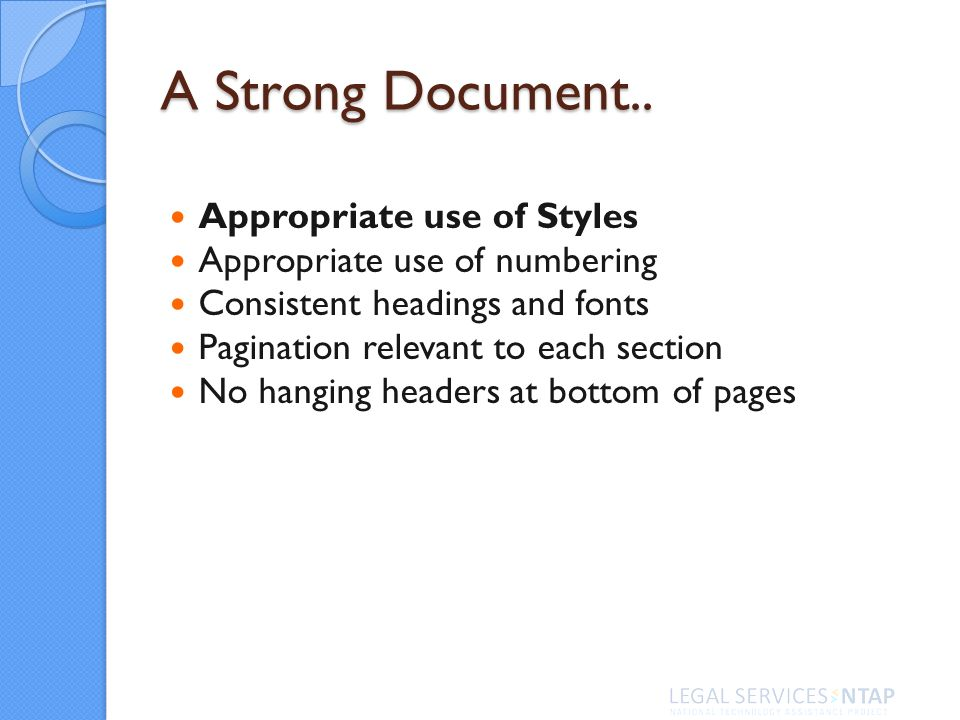 A Strong Document..