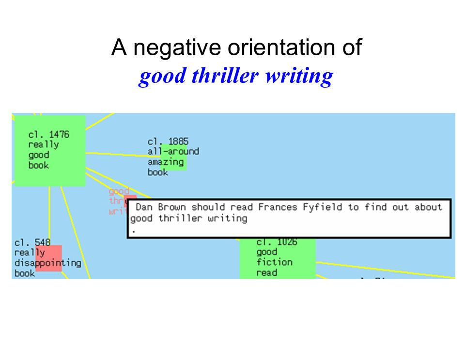 A negative orientation of good thriller writing