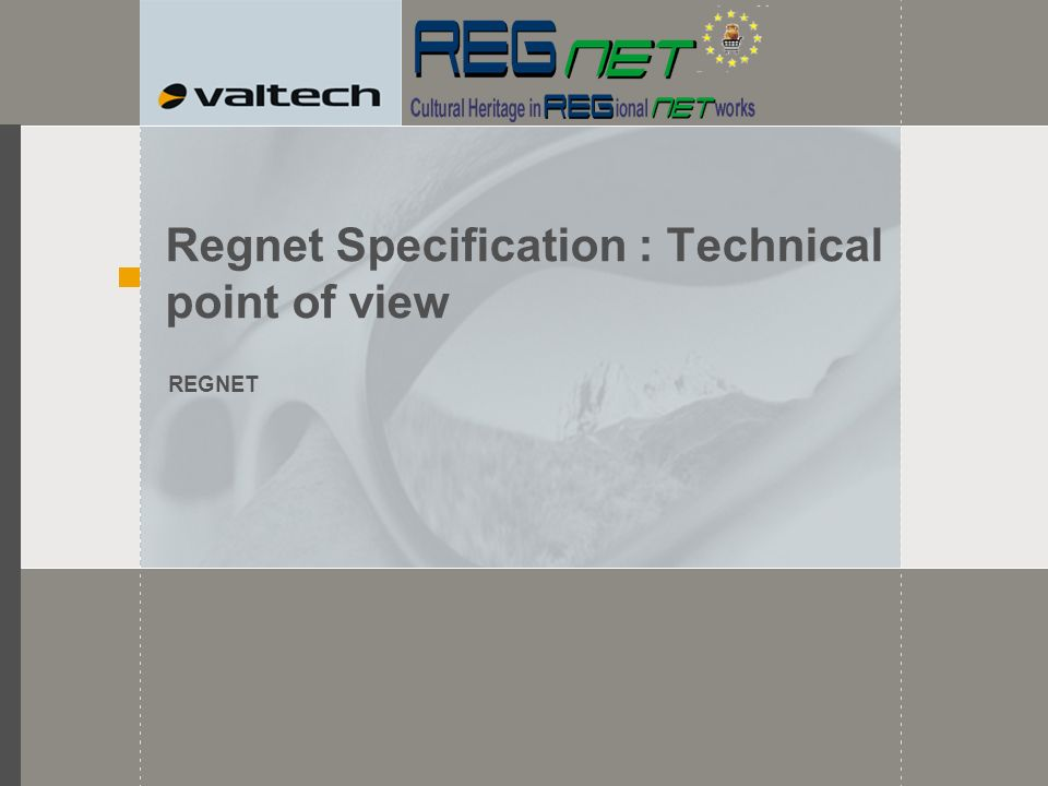 Regnet Specification : Technical point of view REGNET