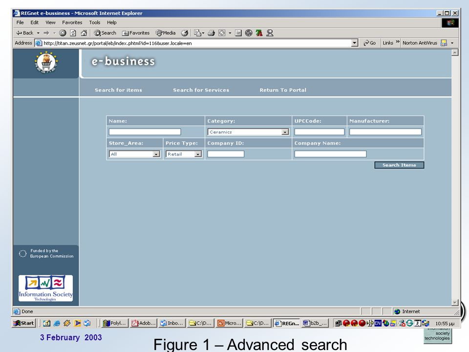3 February 2003 4 Figure 1 – Advanced search