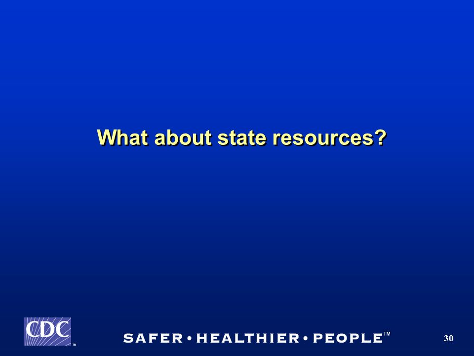 TM 30 What about state resources