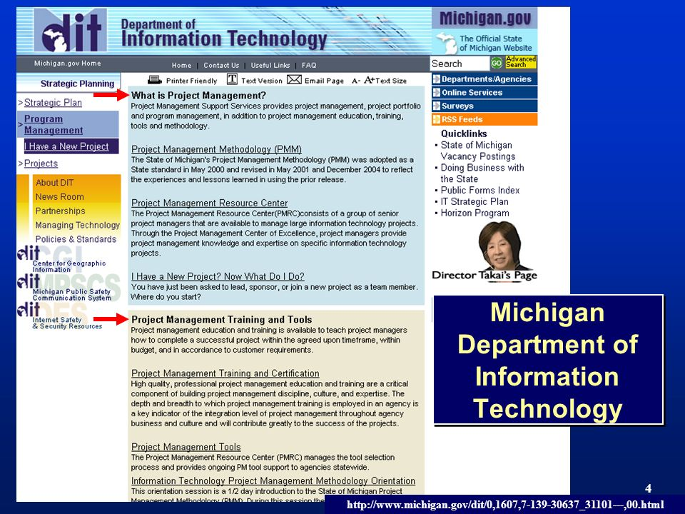 TM 4 Michigan Department of Information Technology http://www.michigan.gov/dit/0,1607,7-139-30637_31101---,00.html