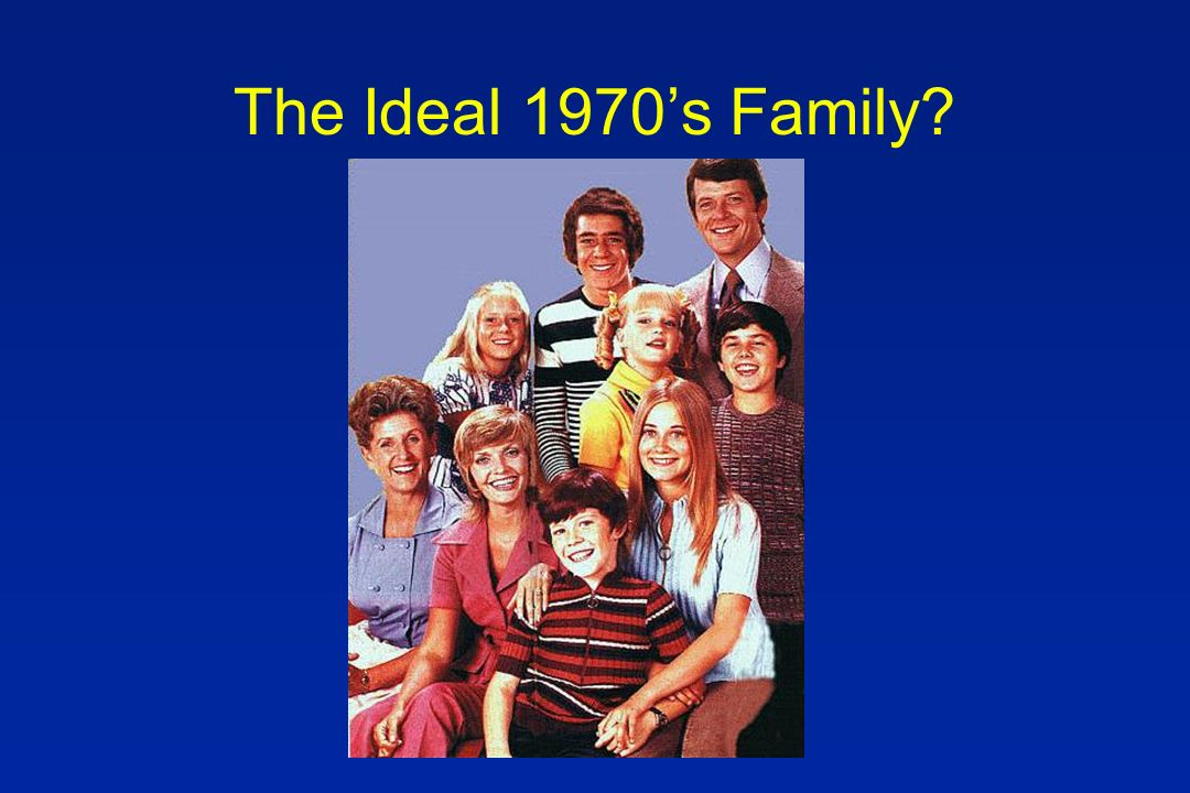 The Ideal 1970s Family