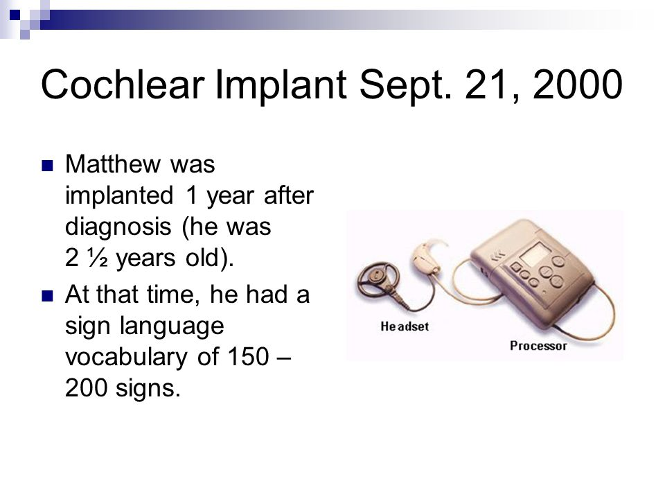 Cochlear Implant Sept.