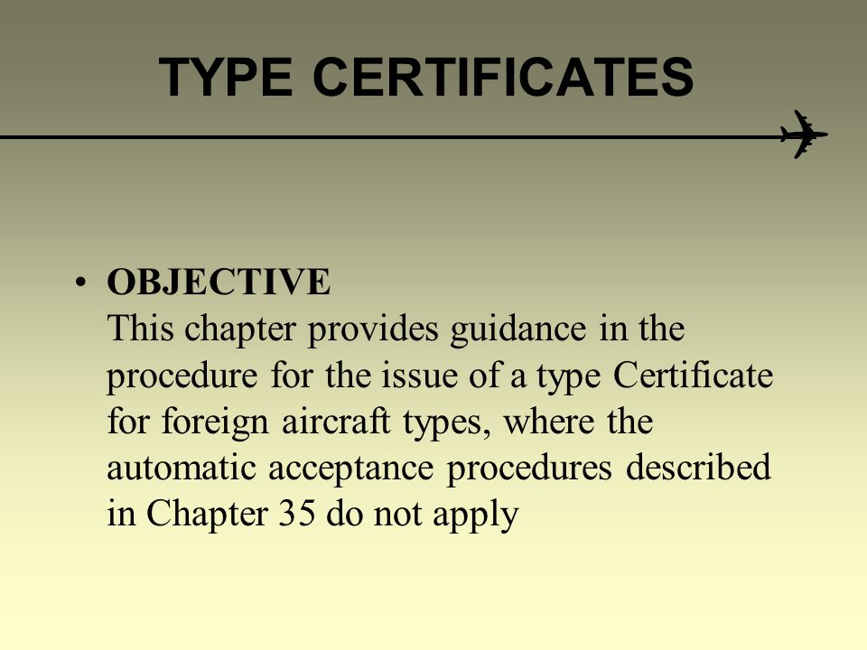 Type Certificates For Imported Aircraft Cooperative Development Of