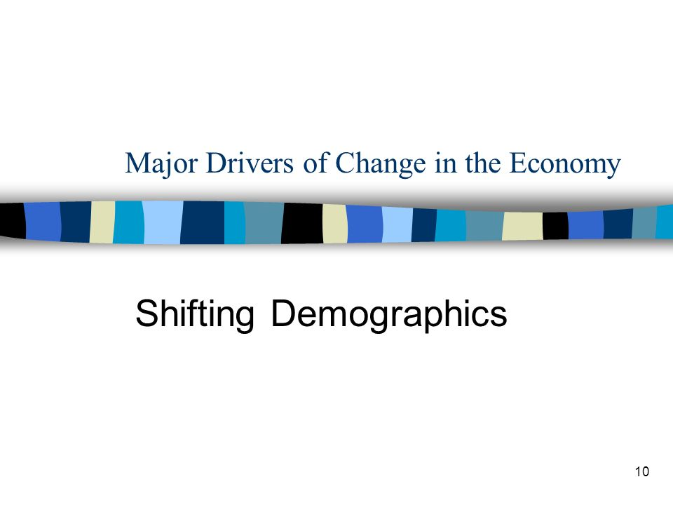 10 Major Drivers of Change in the Economy Shifting Demographics