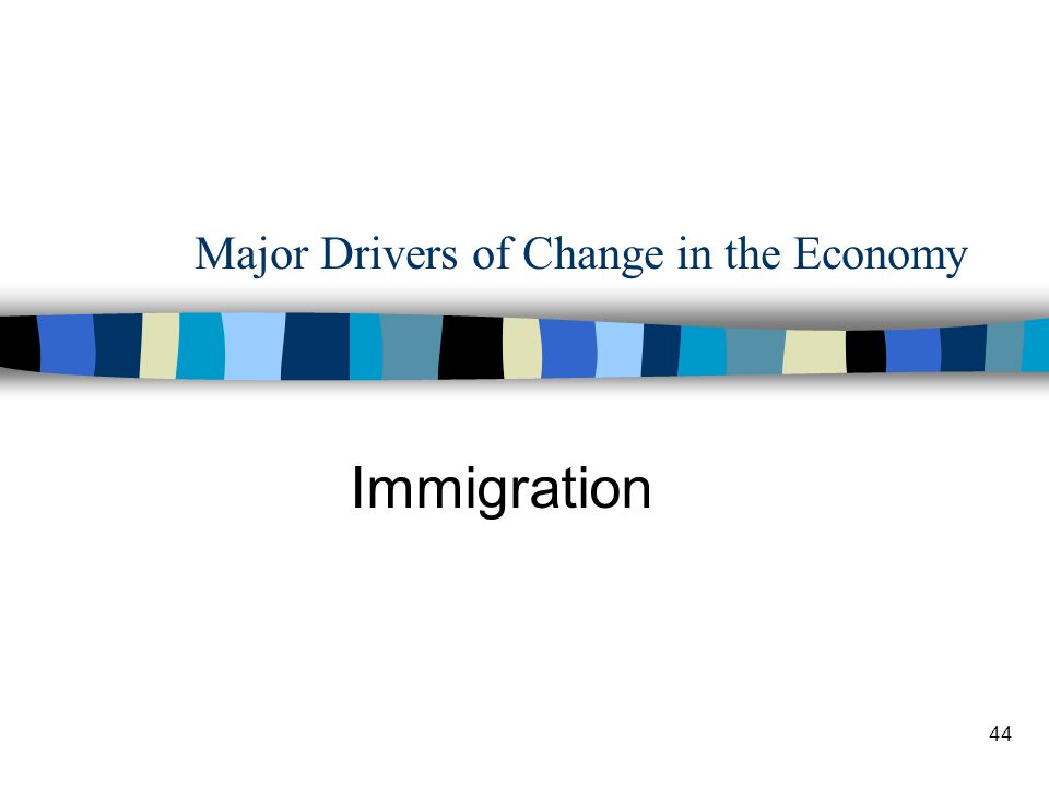44 Major Drivers of Change in the Economy Immigration