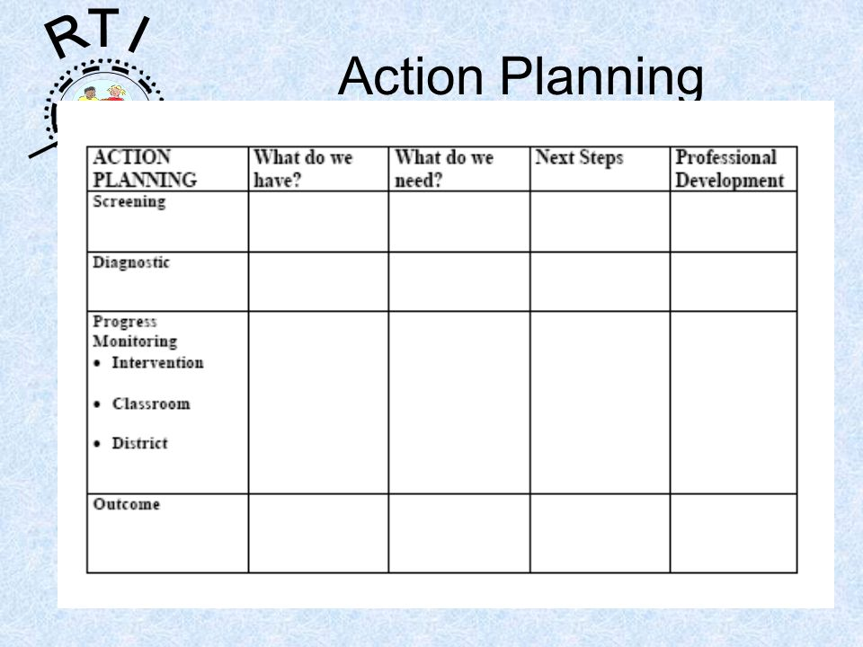 R T I Action Planning