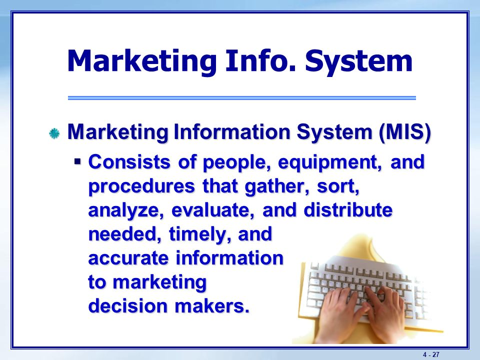 Managing Marketing Information Chapter 5