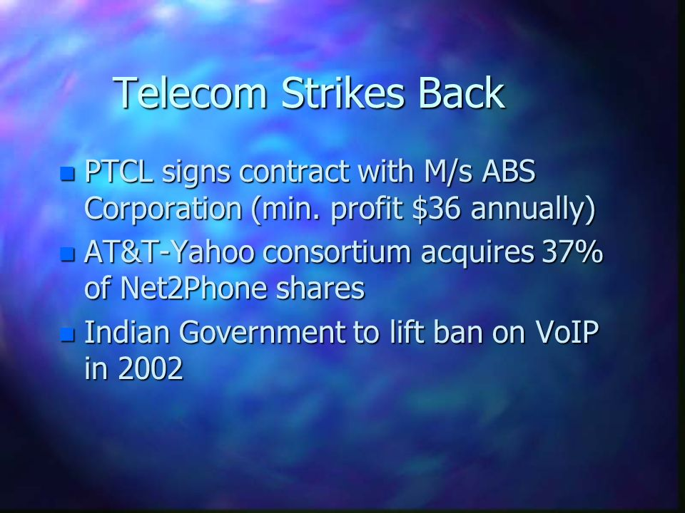 Telecom Strikes Back n PTCL signs contract with M/s ABS Corporation (min.
