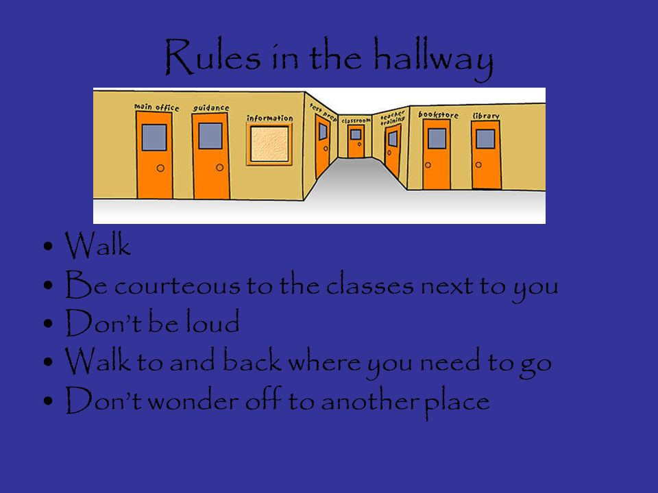 Rules on the playground contd Stay in your designated area Respect the playground supervisors Share the equipment