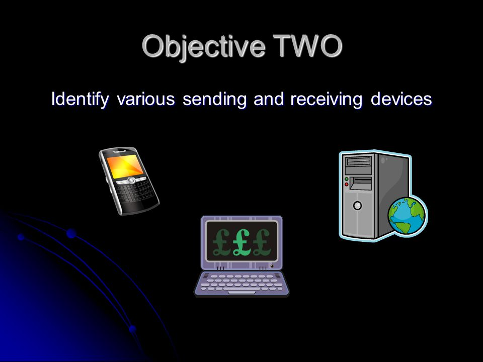 Objective TWO Identify various sending and receiving devices