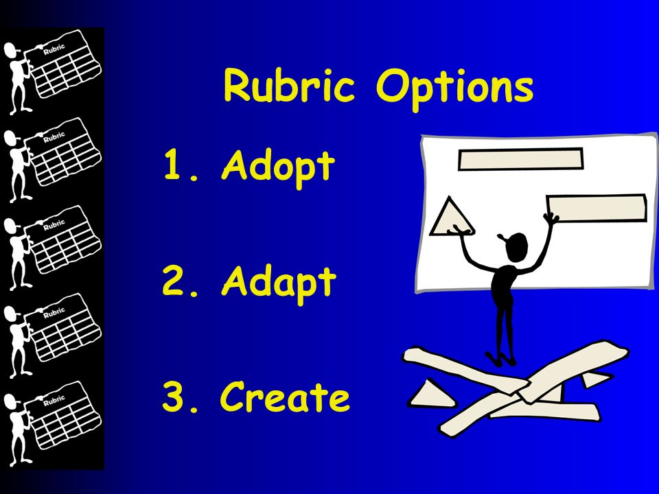 Rubric Options 1. Adopt 2. Adapt 3. Create