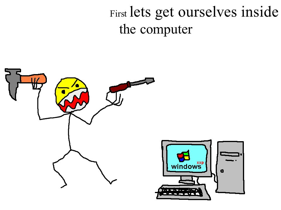 First lets get ourselves inside the computer