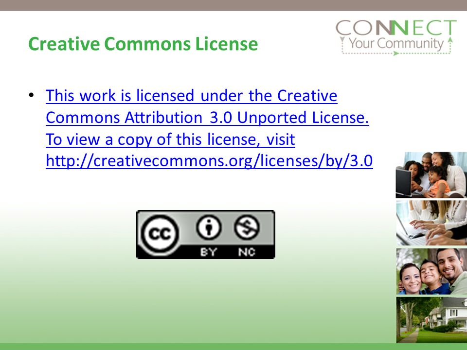 Creative Commons License This work is licensed under the Creative Commons Attribution 3.0 Unported License.