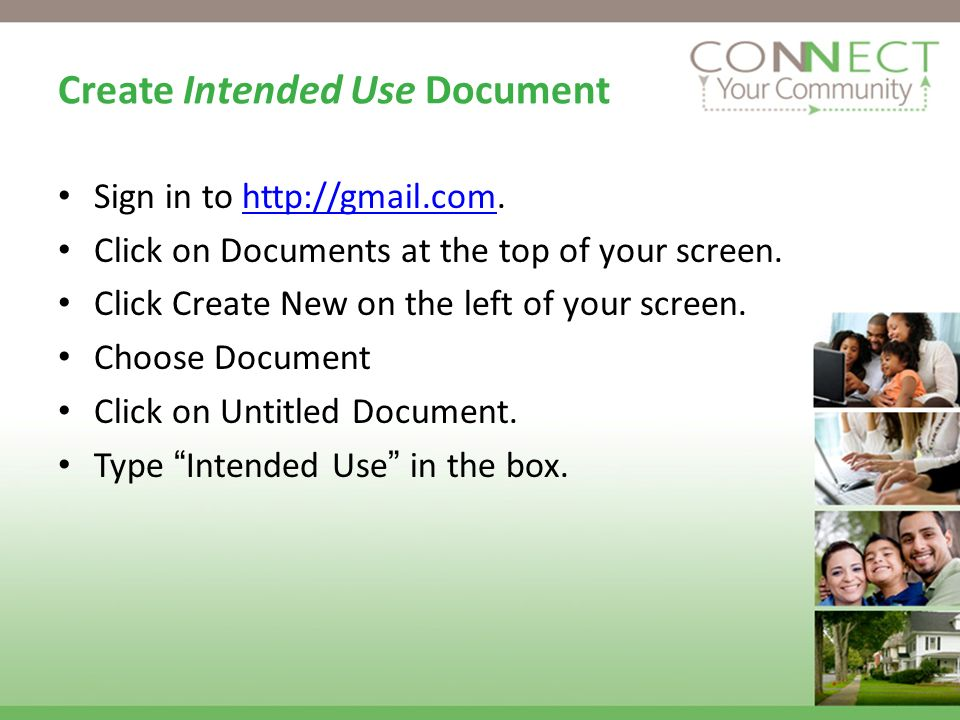 Create Intended Use Document Sign in to   Click on Documents at the top of your screen.